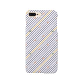 ガーリーdot&stripe Smartphone cases