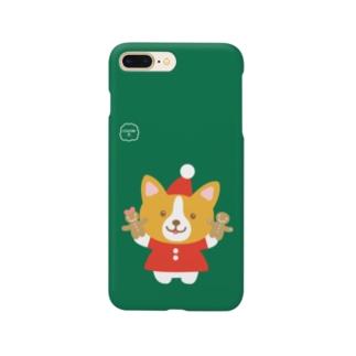 クリスマス【みーみ犬】コーギー!! Smartphone cases