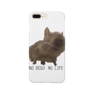 ドット絵 デグーのいる生活 Smartphone cases