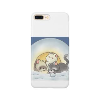 フェレットかまくら雪 Smartphone cases