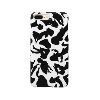 ゼブラ風女の子の影柄 Smartphone cases