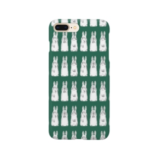 立ち耳うさぎ グリーン Smartphone cases
