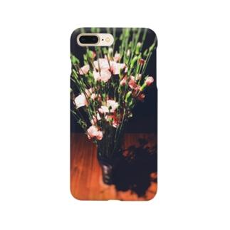 ピンクのカーネーション Smartphone cases