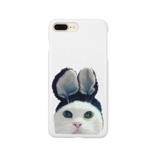 うさ耳にゃんこ Smartphone cases