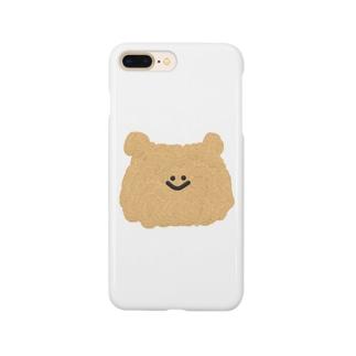 くまの顔 Smartphone cases