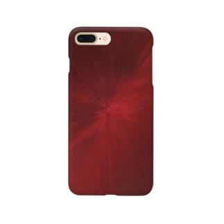 放射状 赤 Smartphone cases