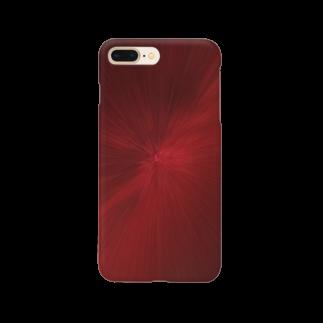 gemgemshopの放射状 赤 Smartphone cases