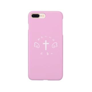 かわいいは正義。(ぴんく) Smartphone cases