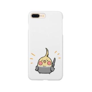 ドヤッとオカメさん Smartphone cases