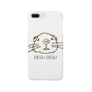 ドット絵 手書きデグー Smartphone cases