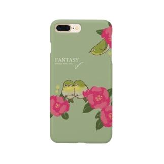 メジロと椿 Smartphone cases