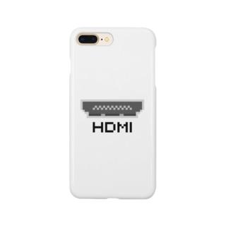 ささののお店のドットHDMI 黒 Smartphone cases