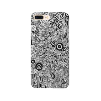 [重なり] 白黒 Smartphone cases