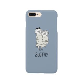 SLOTHY case スモーキーブルー Smartphone cases