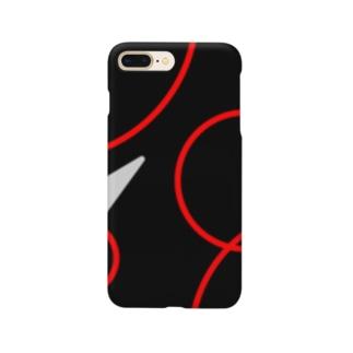 赤い波紋のスマホケース Smartphone cases