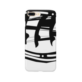 脚のシルエット(黒) Smartphone cases