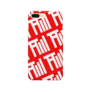 アンテナ鳥居モノグラムRED&WHITE Smartphone cases