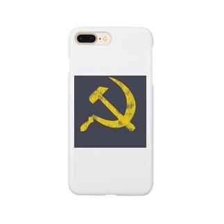 CCCP ソ連 ロシア(金づちと鎌)レッド Smartphone cases