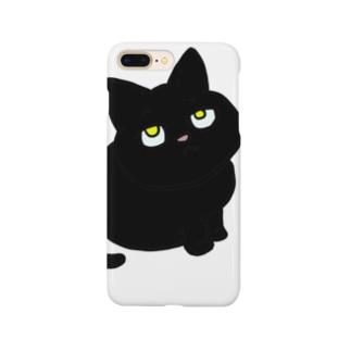 黒猫のチビ Smartphone cases