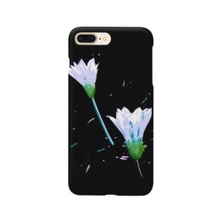 ハジケルハナ(アイスブルー) Smartphone cases