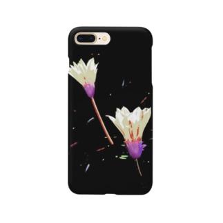 ハジケルハナ(ベージュ) Smartphone cases