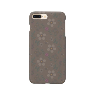 d*ropsのflower mix / brown Smartphone cases