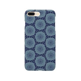 d*ropsのblue flower Smartphone cases