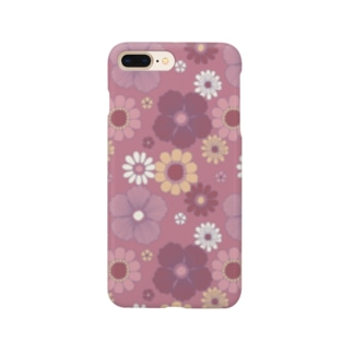 d*ropsのflower mix / pink Smartphone cases