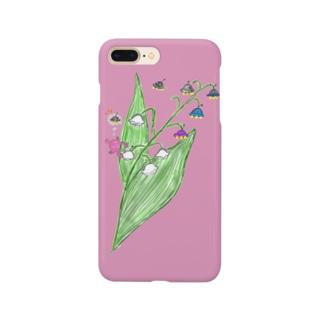 地球のお花はUFOに似てる Smartphone cases