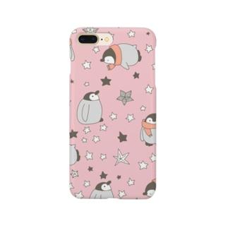 お星さまとペンギン(pink!) Smartphone cases