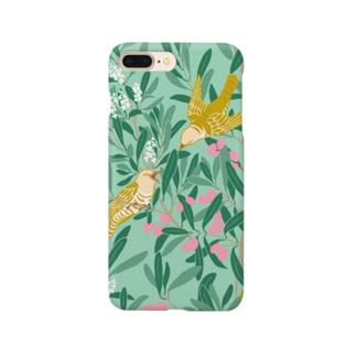 オリーブの森 ターコイズ Smartphone cases
