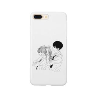 カップルスマホケース 白 Smartphone cases