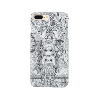 不思議の国のアリス(白黒) Smartphone cases