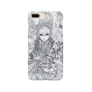 スプーンの女王(白黒) Smartphone cases