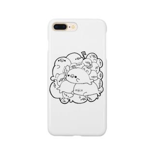 エモいアザラシ屋さんのツメツメアザラシ Smartphone cases