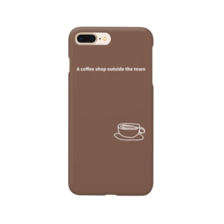 monochromeH2のA coffee shop outside the town 2020 Smartphone cases