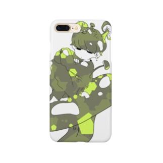 きのこのほうしくん/緑 Smartphone cases