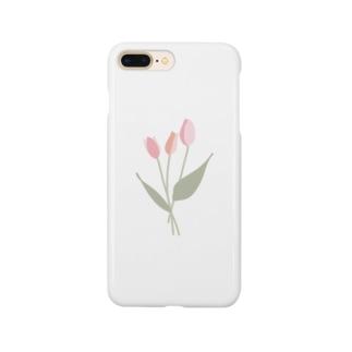 pink tulip Smartphone cases