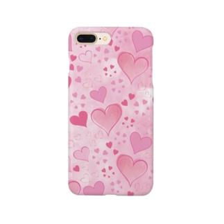 ハート柄(ピンク) Smartphone cases