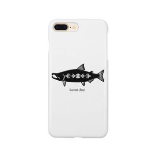鮭   アイヌ模様 Smartphone cases