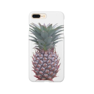 写実風パイナップル Smartphone cases