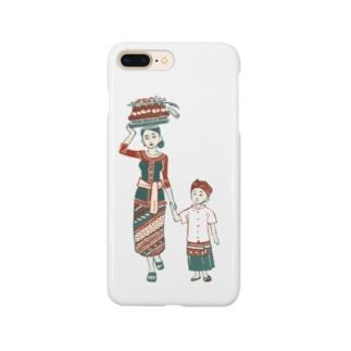 【バリの人々】お母さんと子供 Smartphone cases