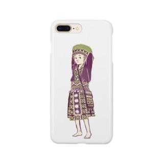 【タイの人々】モン族の女の子 Smartphone cases