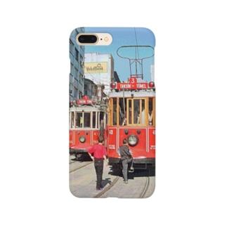 CG絵画:イスタンブールの路面電車 CG art: Tram at Istanbul Smartphone cases
