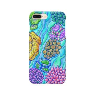 カラフルなサンゴ-1 Smartphone cases