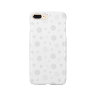 水玉模様(グレー) Smartphone cases
