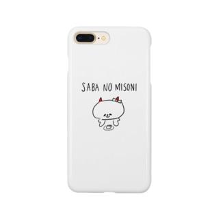 鯖の味噌煮コットン Smartphone cases