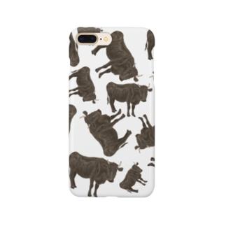 黒毛和牛がいっぱいいっぱい Smartphone cases