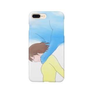 青空のスカーフ Smartphone cases