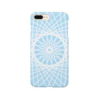 禍々しいパステルブルー Smartphone cases